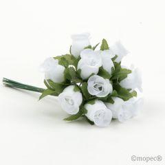 Ramito rosas blancas precio x pomo de 12, min.12