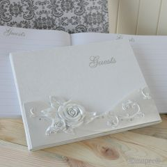Libro de firmas Flor Rosa 23x19cm