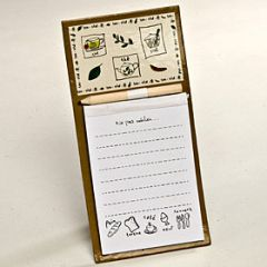 Shopping list notebook magnet 20x10cm.