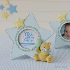 Marco fotos 19cm estrella azul y osito