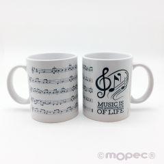 Taza cerámica musical score en caja regalo