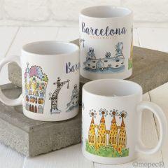 Taza cerámica Barcelona Modernist en caja regalo