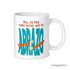 Tasse en céramique Abu no hay nada...Abrazo en boîte cadeau