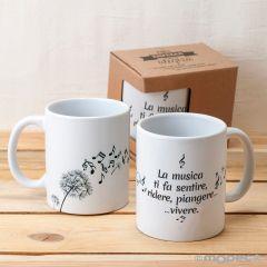 Taza cerámica La musica ti fa sentire, rider... caja regalo