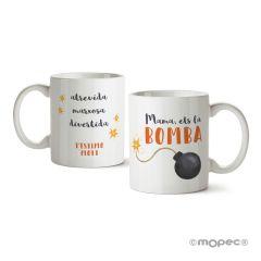 Ceramic mug Mom you´re the Bomb in gift box