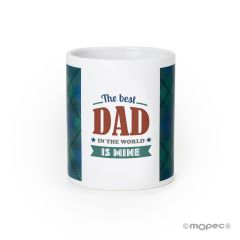 Taza cerámica El Mejor Papá del mundo es el Mío en caja regalo