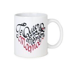 Ceramic mug Mom  words in gift box