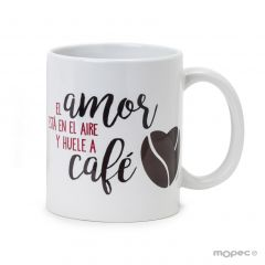 Ceramic mug Love is   .. smells like in gift box