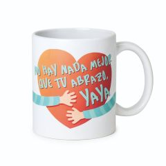 Taza cerámica There´s nothing better than your hugs, grandma en caja regalo