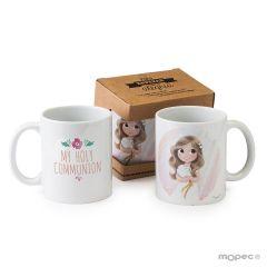 Tasse en céramique fille avec boîte-cadeau