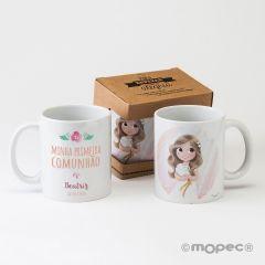 Taza cerámica Primeira Comunhão en caja regalo