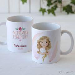 Taza cerámica niña Comunión en caja regalo