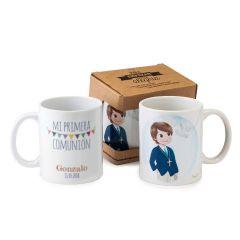 Taza cerámica niño Comunión en caja regalo