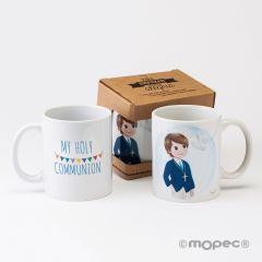 Taza cerámica My Holy Communion boy en caja regalo