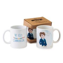 Tasse en céramique garçon avec boîte-cadeau