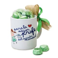 Ceramic mug The best teacher in a gift box + 6 chocolates