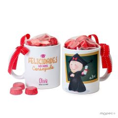 Ceramic mug Pita graduation + 6 chocolates
