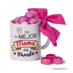 Ceramic mug for the best  Mum in a gift box + 6 chocolats
