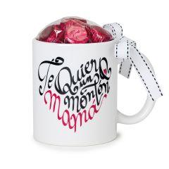 Taza cerámica Te Quiero un Montón Mamá 6 bombones caja regalo