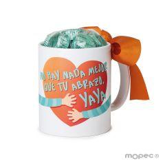 Taza cerámica No hay nada,,Yaya 6bombones caja regalo