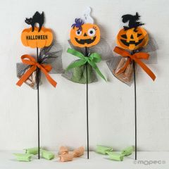 Pic a senti Halloween citrouilles 3 bonbons, stdo.