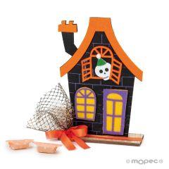 Casa de fieltro 5caramelos Halloween