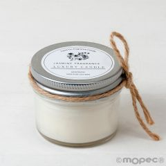 Vela aroma jazmín en tarro,cordón incl. Ø6,5x6cm.min.6