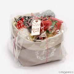 Confezione regalo portacandele,ballerine foulard,ciocc. disponibile le ballerine in taglia L o M