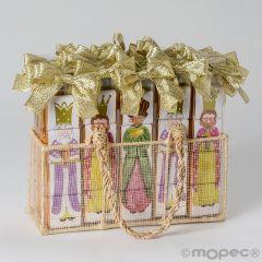 Expositor de 36 estuche de 4 chocolates en puzle de los 3 Reyes Magos