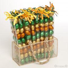 Expositor 27 estuches 9 huevos praliné Pascua*