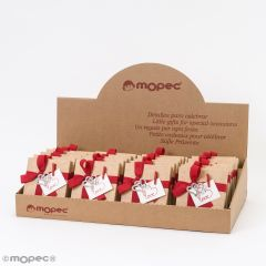 Display 24 cajas 4 napolitanas broche corazón strass+tarjeta