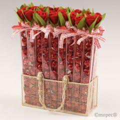 Présentoir 27 boîtes rose avec 7 croki-choc