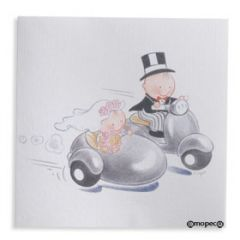 Pit&Pita sidecar wedding invitation + envelope