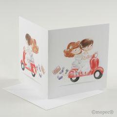 Participación Girls Pop&Fan en moto roja+ sobre, min25