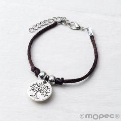 Bracelet avec médaille d'arbre / life is a gift