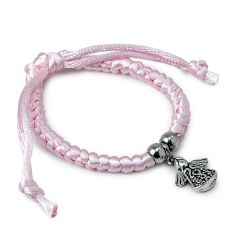 Pink bracelet with angel