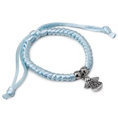 Blue bracelet with angel