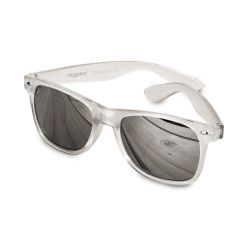 Gafas de sol semi-transparentes plateadas lente espejo