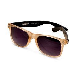 Gafas de sol semi-transp. patilla negra lente lila