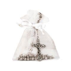 Rosaire argenté  avec sachet