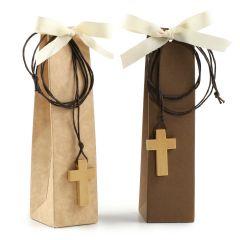 Estuche colgante cruz 2 torinos stdo marron/beige, min.2