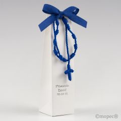 Estuche rosario-pulsera azul 2 torinos