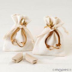 Bracelet infinit décoré dans sachet assort. 2 bonbons.