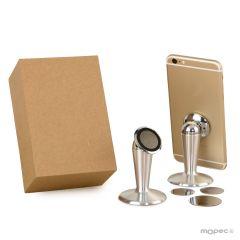 Soporte magnético para móviles en caja regalo 15x7cm.