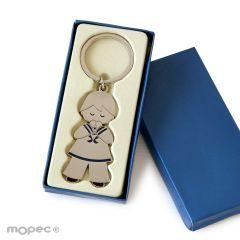 Llavero niño Comunión marinero 5,7cm.en caja regalo