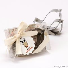 Emporte-pièces biscuits set boîte cadeau et carte de renne