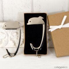 Cuelga bolsos Delfín en caja regalo decorada