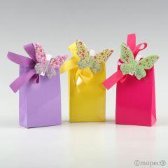 Pinzas mariposas multicolor metal, 3 bombones, stdo.min3