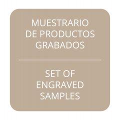 Engraved samples set