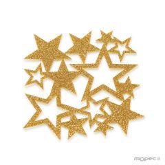 Sottobicchiere in feltro glitter dorato